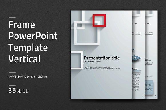 Frame PowerPoint Template Vertical Presentation Templates
