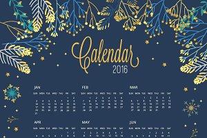 2016 Calendar Blue Vs Gold