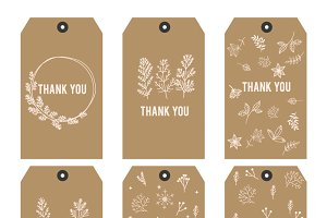 Thank you printable tags I