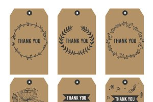 Thank you Printable Tags on Black