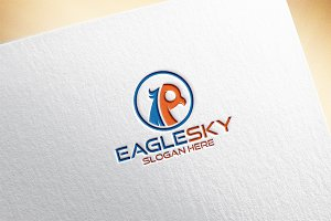 Eagle Sky / Letter R Logo Template