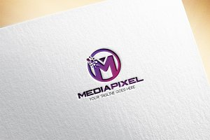 Media Pixel / Letter M Logo Template