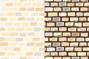 Brick wall seamless pattern backdrop