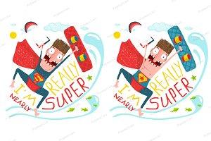 Kitesurfing superman character