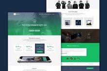 PSD App Design Web Site Template