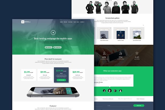 Psd app design web site template website templates creative market psd app design web site template websites pronofoot35fo Image collections