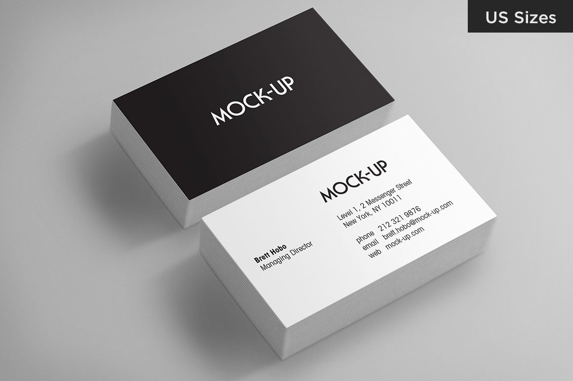 Business Card Mockups - US Sizes ~ Product Mockups ~ Creative Market