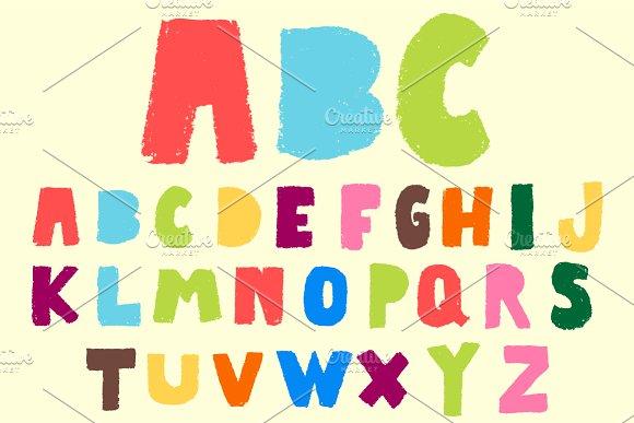 Pastel vector font