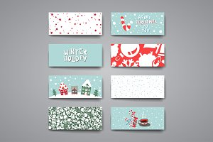 Set of Banners in Christmas style