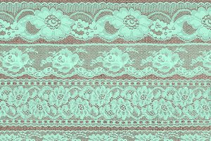 Mint Green Lace Borders Clipart