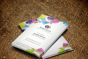 Bubble Colorful business Card
