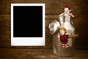 Instan photo frame Christmas card