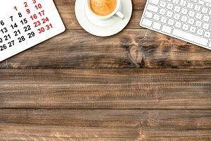 Office desk IPad with Calendar