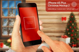 iPhone 6S Christmas Mockup 2