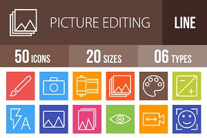 50 Picture Line Multicolor  Icons