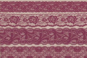 Burgundy Purple Lace Borders