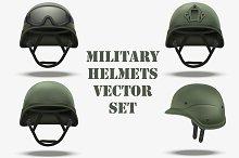Set of Military tactical helmets
