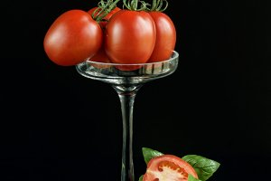 elegant Tomatoes and basil