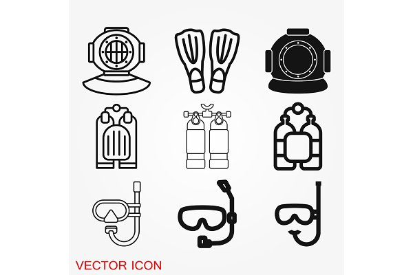 diving icon water sport vector sign pre designed vector graphics creative market creative market