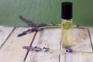 Essential oil and lavender