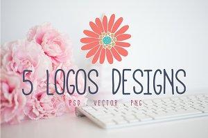 Logo Design Bundle - Floral Graphics