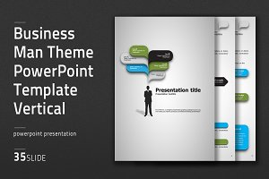 Business Man Theme PPT Vertical
