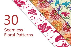 30 Seamless Vector Floral patterns