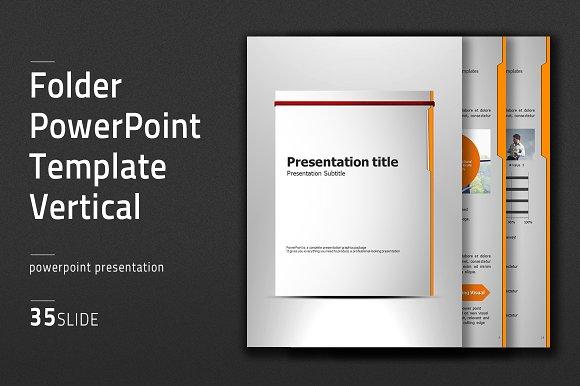 Folder vertical ppt template presentation templates creative folder vertical ppt template presentations toneelgroepblik Choice Image