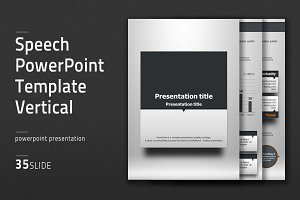 Speech PPT Template Vertical