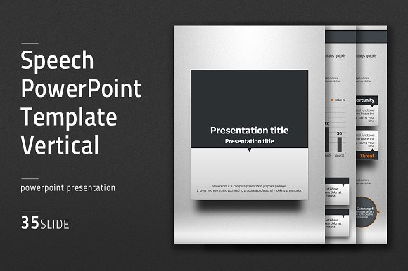 Speech ppt template vertical presentation templates creative market toneelgroepblik Images
