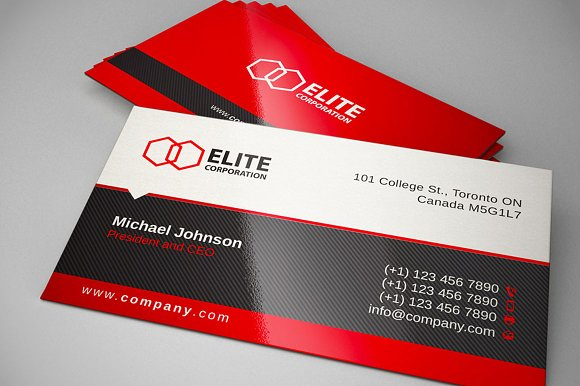 Simple and clean business card 1 business card templates simple and clean business card 1 business card templates creative market reheart Gallery
