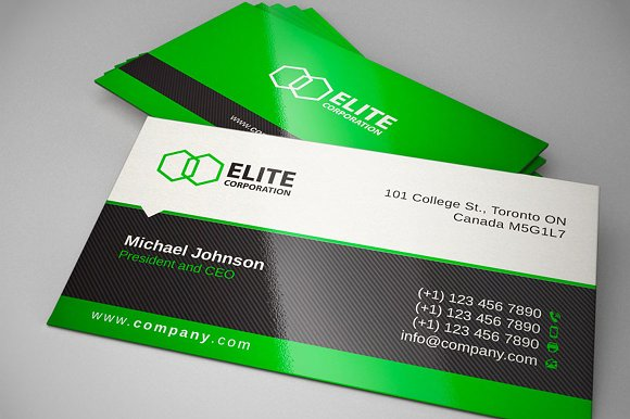 Simple and clean business card 1 business card templates simple and clean business card 1 business card templates creative market reheart Images