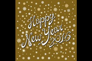 Happy New Year. Lettering holiday