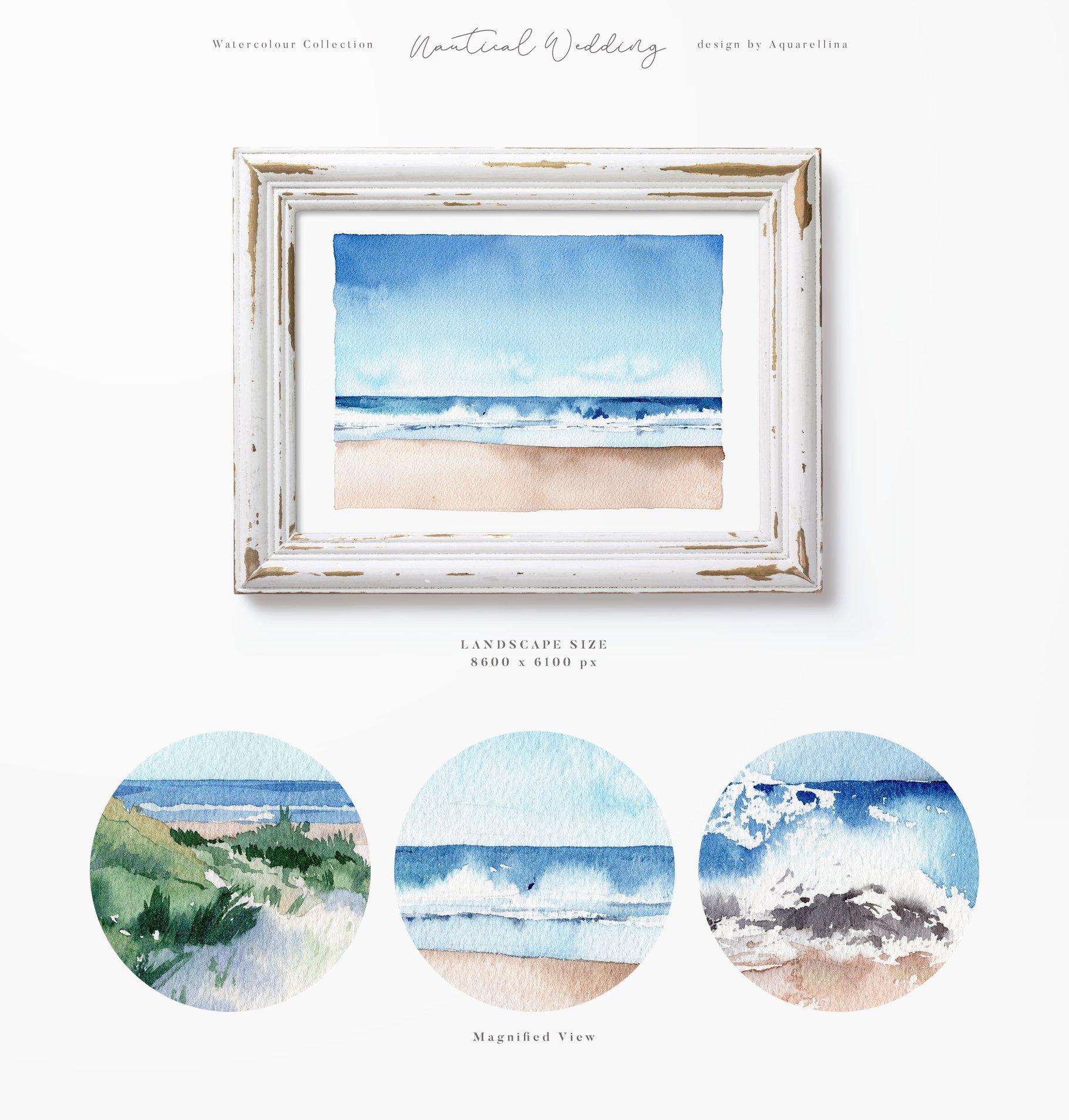 nautical beach wedding illustrations by aquarellina screenshot 2 5