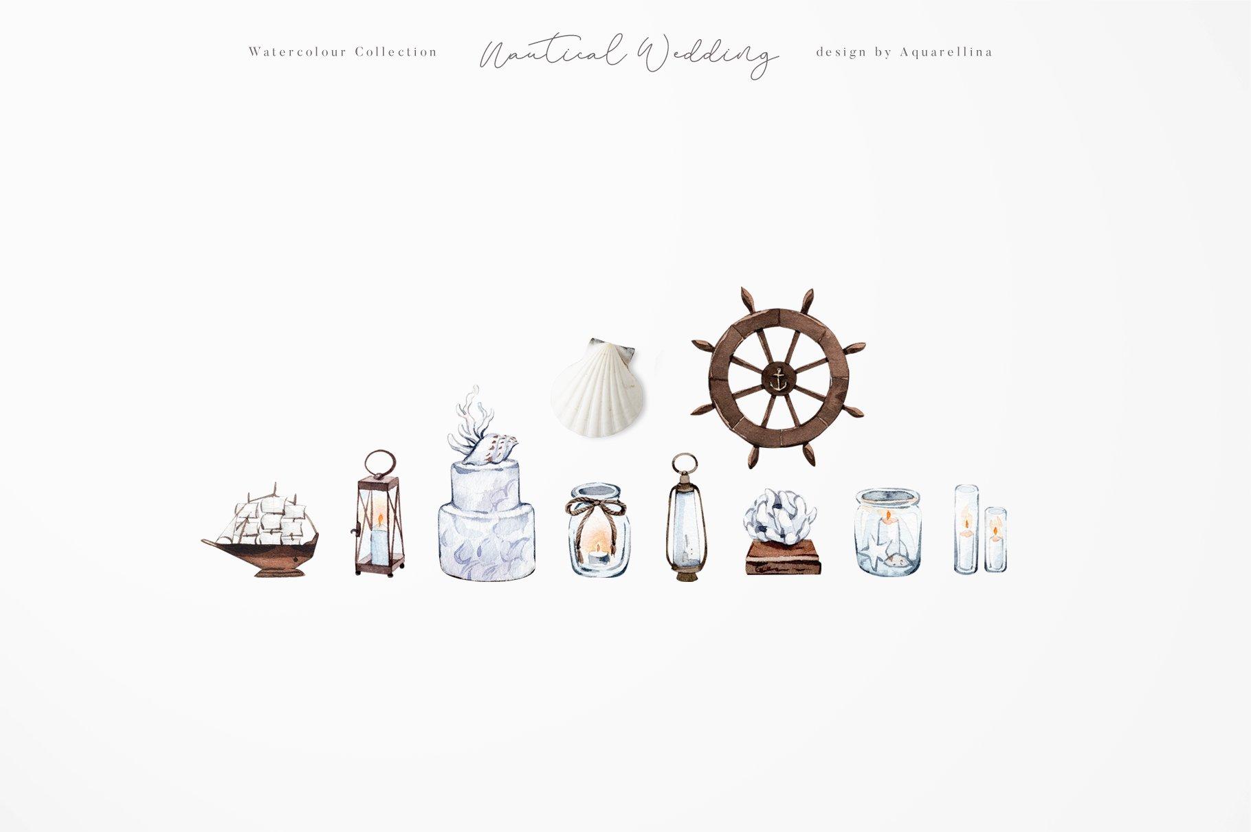 nautical beach wedding illustrations by aquarellina screenshot 10d 11