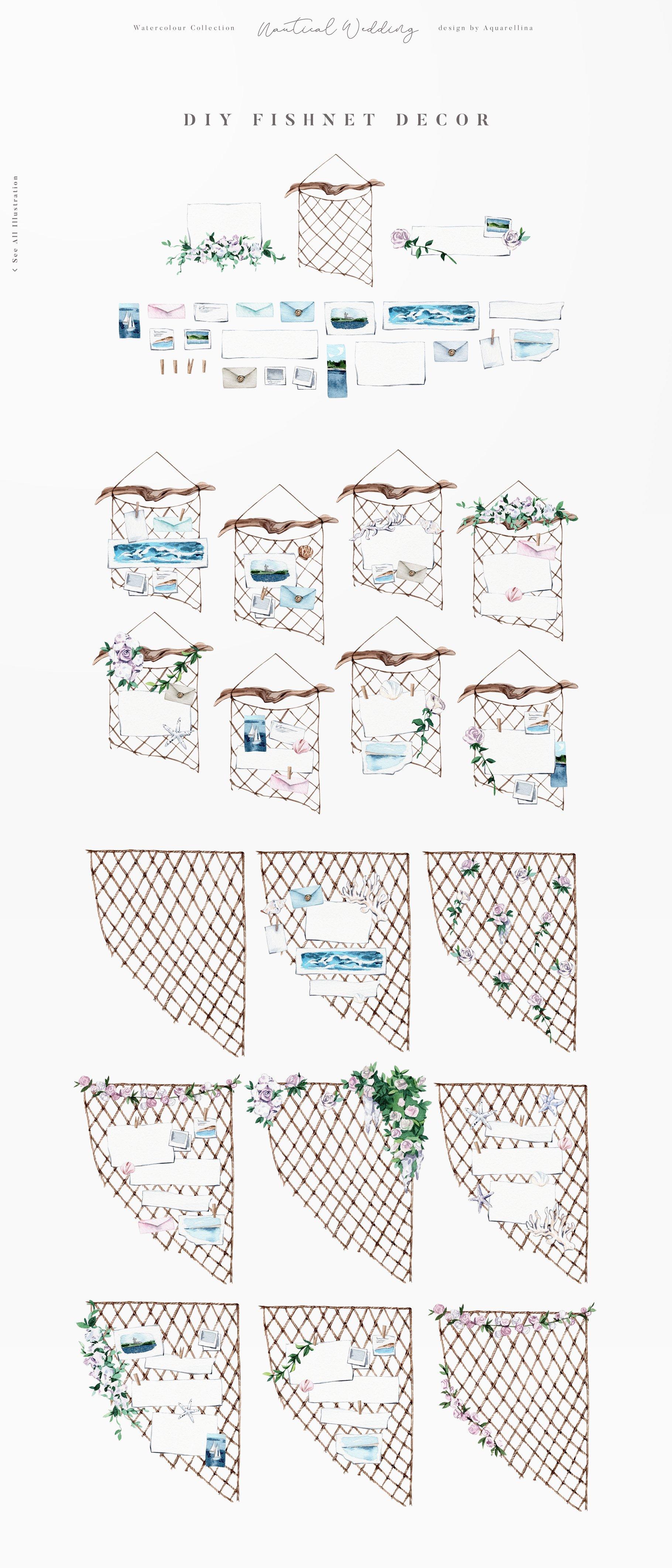 nautical beach wedding illustrations by aquarellina screenshot 15 14