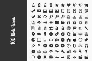100 Web icons