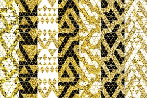 22 Tribal glitter golden patterns