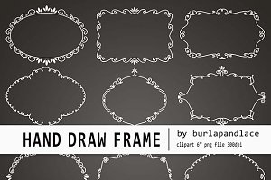 Hand draw chalkboard frames