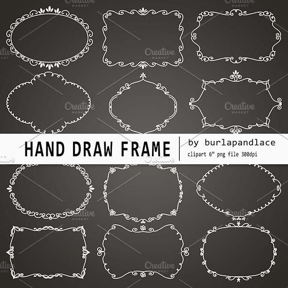 Hand draw chalkboard frames ~ Illustrations ~ Creative Market