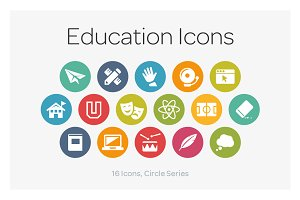Circle Icons: Education