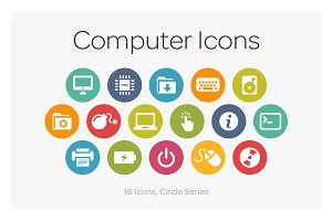 Circle Icons: Computer