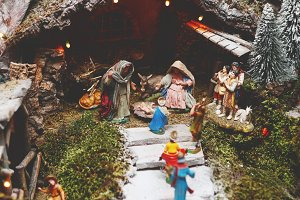 nativity close-up