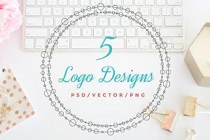Logo Design Bundle - Wreath Logo