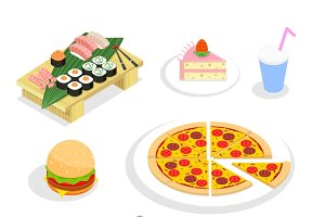 Food isometric icons