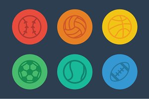 Flat Sports Icon Pack