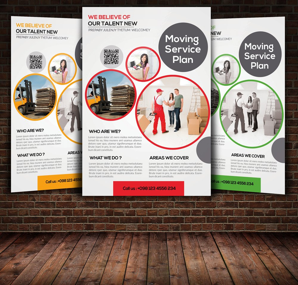 Moving Service Flyer Template ~ Flyer Templates ~ Creative Market