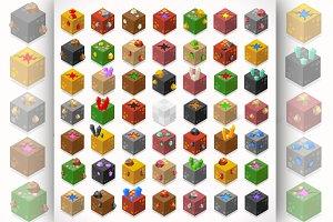 Mine Cubes Isometric