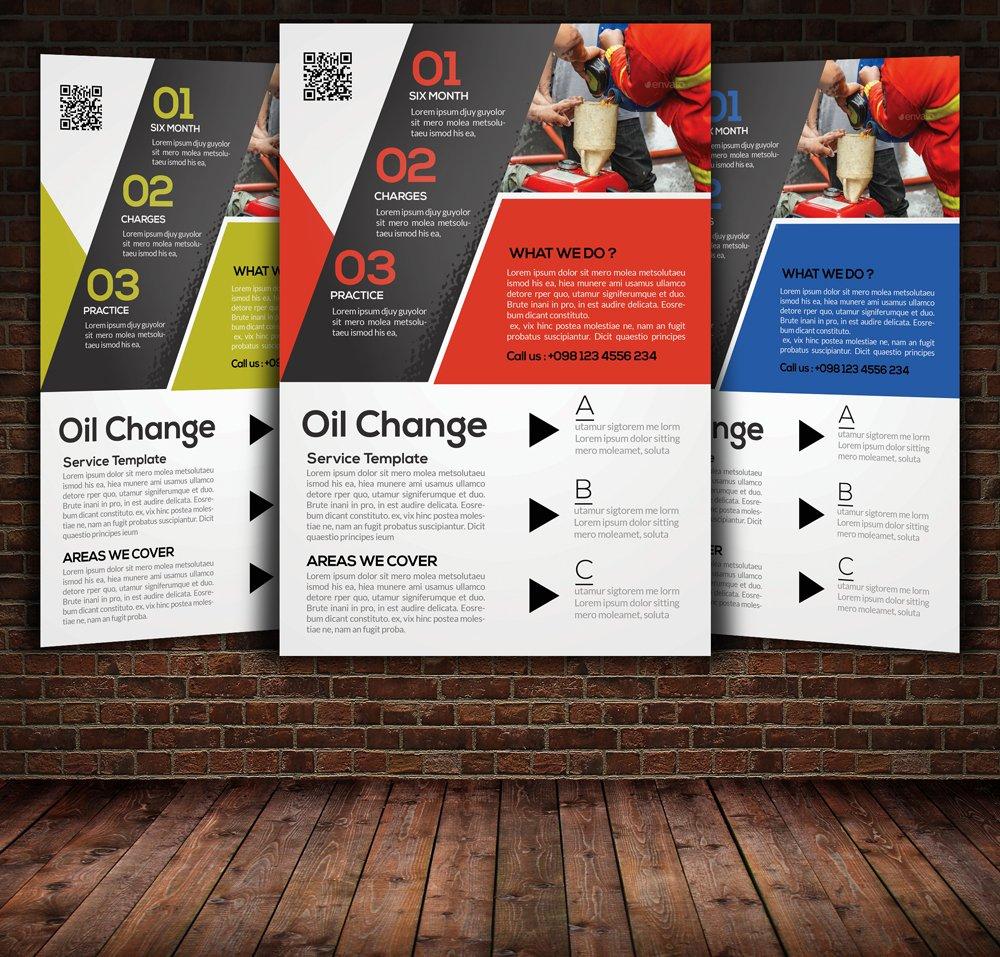 Oil Change Service Flyer ~ Flyer Templates ~ Creative Market