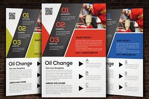 Oil Change Service Flyer